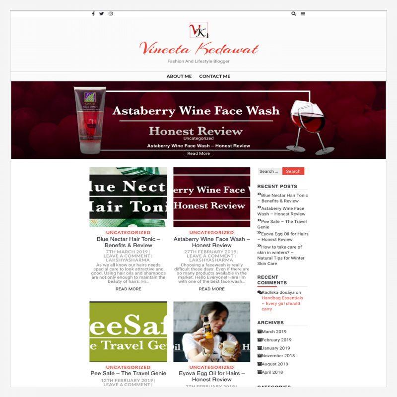 Blogger Vineeta Kedawat - A Happy Client of Digital Marketer Lakshya Sharma
